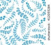 decorative ornamental seamless... | Shutterstock .eps vector #412055284