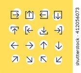 abstract vector arrow pictogram ...