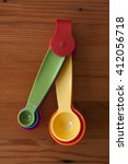 A Yellow Measuring Spoon With...