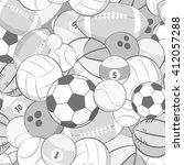seamless vector sports pattern. ... | Shutterstock .eps vector #412057288