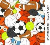 seamless vector sports pattern. ... | Shutterstock .eps vector #412057294