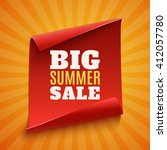 big summer sale poster. red ... | Shutterstock .eps vector #412057780