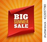 big summer sale poster. red ...   Shutterstock .eps vector #412057780