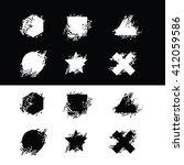 vector grunge stylized... | Shutterstock .eps vector #412059586