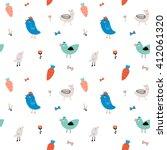 cute scandinavian seamless... | Shutterstock .eps vector #412061320