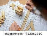 mechanical engineer at work.... | Shutterstock . vector #412062310