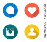 set of vector social network... | Shutterstock .eps vector #412066483