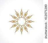 oriental arabic pattern | Shutterstock .eps vector #412071280