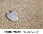 Naturally Heart Shaped Stone On ...