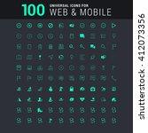 100 universal icons | Shutterstock .eps vector #412073356