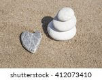 Heart Shaped Stone And Stack O...