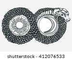 ouroboros devouring its own... | Shutterstock .eps vector #412076533