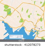 vector color map of oslo  the... | Shutterstock .eps vector #412078273
