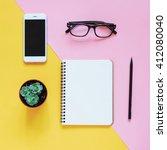 creative flat lay photo of... | Shutterstock . vector #412080040