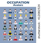 a set of professions people.... | Shutterstock .eps vector #412082524