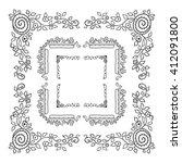 vector doodle frame. vintage...   Shutterstock .eps vector #412091800