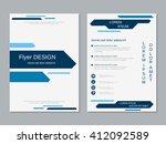 brochure cover vector template. ... | Shutterstock .eps vector #412092589