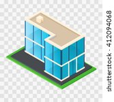 isometric chic modern rustic... | Shutterstock .eps vector #412094068