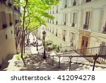 morning montmartre staircase in ...