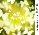 shining summer background with... | Shutterstock .eps vector #412098298