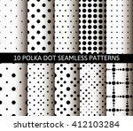 simple black and white seamless ... | Shutterstock .eps vector #412103284