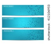 set of modern science banners | Shutterstock .eps vector #412106953