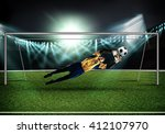 best goalkeeper | Shutterstock . vector #412107970