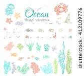 vector set of underwater sea... | Shutterstock .eps vector #412109776