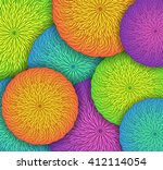 vector background with round... | Shutterstock .eps vector #412114054