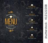 restaurant menu design. vector... | Shutterstock .eps vector #412122208