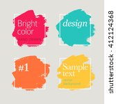 stylish hand drawn elements | Shutterstock .eps vector #412124368