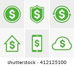 vector dollar logo and icon ... | Shutterstock .eps vector #412125100