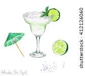 watercolor food clipart  ...   Shutterstock . vector #412126060