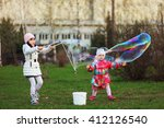 the child in park a outdoors... | Shutterstock . vector #412126540