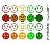 vector smile icon set.feedback...