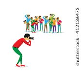 photographers. team of... | Shutterstock .eps vector #412136473