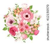 vector spring bouquet of red... | Shutterstock .eps vector #412150570