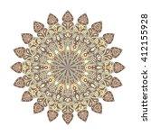 round mandala. arabic  indian ... | Shutterstock .eps vector #412155928
