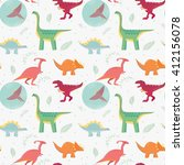 funny seamless pattern with... | Shutterstock .eps vector #412156078