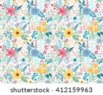 beautiful pattern in small... | Shutterstock .eps vector #412159963