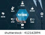 mentoring technology... | Shutterstock . vector #412162894