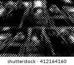 grunge halftone dots texture... | Shutterstock .eps vector #412164160