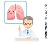 senior male doctor to the... | Shutterstock . vector #412164670