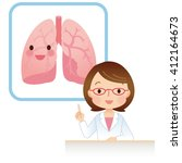 female doctor to the medical... | Shutterstock . vector #412164673