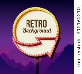 neon retro roadside sign with... | Shutterstock . vector #412165210