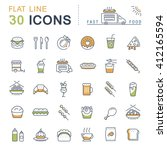 set vector line icons in flat... | Shutterstock .eps vector #412165594