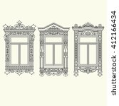 set of illustrations with a... | Shutterstock .eps vector #412166434