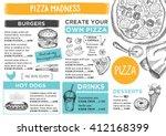 menu placemat food restaurant...   Shutterstock .eps vector #412168399