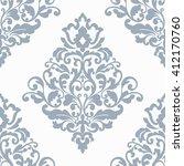elegant damask wallpaper.... | Shutterstock . vector #412170760