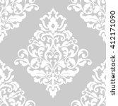elegant damask wallpaper.... | Shutterstock . vector #412171090